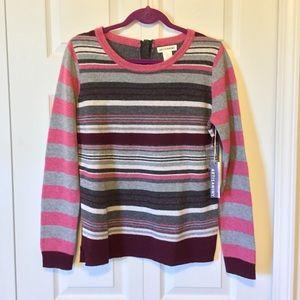 Artisan NY multicolored stripe sweater Large